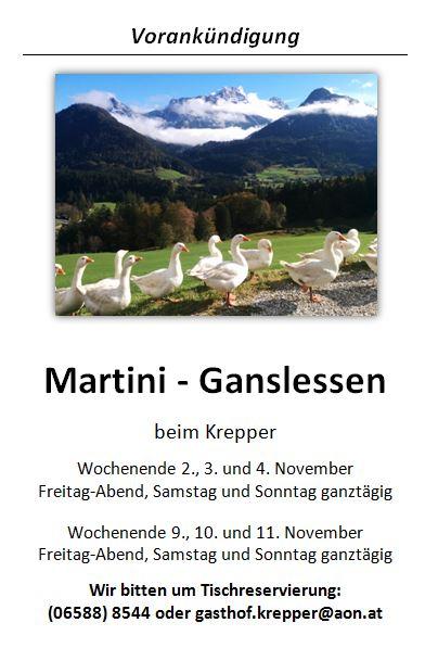 Martini Ganslessen Lofer 2018