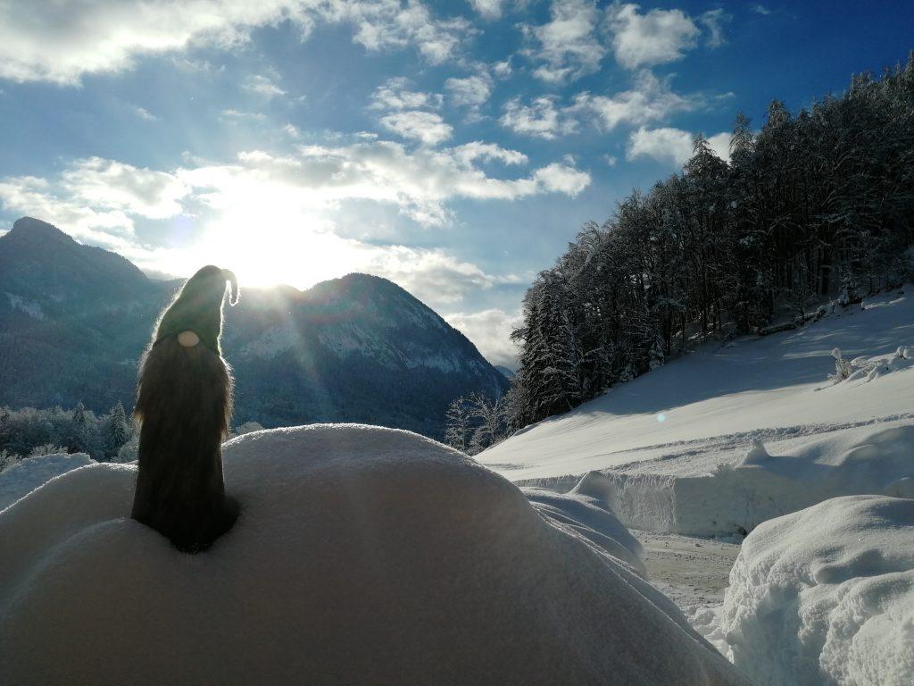 Krepper Lofer Restaurant Winter Landscape