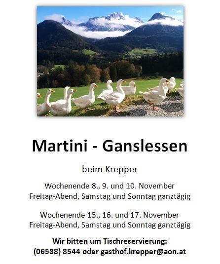 Martini Gansl Lofer Krepper 2019 Bio Weidegans
